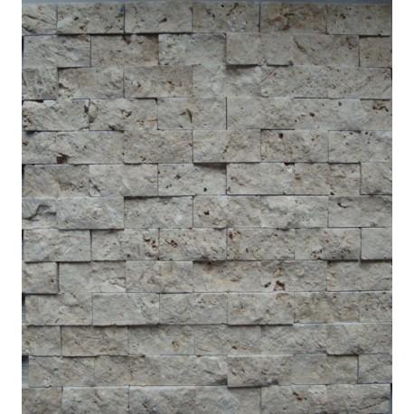 TRAVERTIN LIGHT 2,3/4,8/1 cm briquettes Clivées